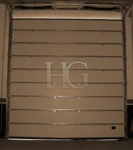 puerta de garaje vista interior