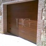 puerta seccional imitacion madera