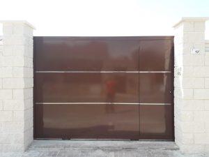Instalación puerta garaje corredera